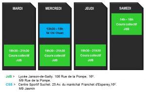Horaires JJP16 2021-2022